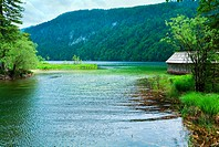 Beautiful summer Alpine lake Toplitzsee view Austria