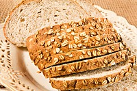 Healthy fresh sliced wholegrain bread