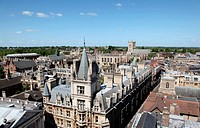 An aerial view of Cambridge´s historical buildings _ Cambridge _ England