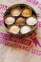 Seven varieties of rice