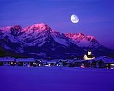 Austria, Europe, Tyrol, Söll, Wilder Kaiser, Kaiser mountains, Limestone Alps, mountain, mountains, nature, scenery, winter, place, village, travel, I...
