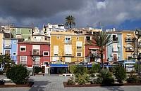 Colourful houses of Villajoyosa, Costa Blanca, Spain, Europe