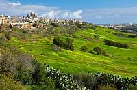 Nadur Village and Qala Village, Gozo Island, Malta, Europe.