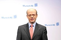 Nikolaus von Bomhard, CEO of the Munich Re insurance company, during the press conference on financial statements on 13.3.2012 in Munich, Bavaria, Ger...