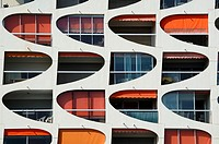 Window Patterns of Holiday Flats at La Grande-Motte Holiday Resort Hérault France