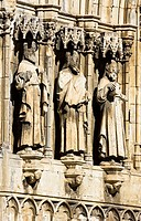 Detail of the facade of the church of Santa Maria la Mayor – Morella – Els Ports - Castellon province – Comunidad Valenciana – Spain - Europe