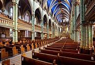 Interior of Notre Dame Cathedral Basilica, Ottawa, Ontario, Canada.