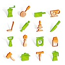 Kitchen and household tools icons _ vector icon set