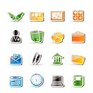 Simple Business and office icons _ Vector Icon Set