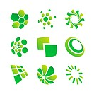 set of green design elements