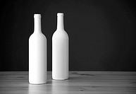 two white elegant winr bottle