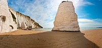 Pizzomunno Rock, coast near Vieste, Foggia Province, Apulia, Puglia, Gargano, Adriatic Sea, Italy, Europe