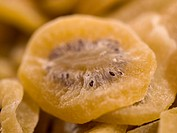 Close_up of dried slices of banana.
