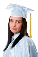 Young graduate isolated on the white background