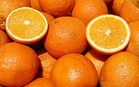 background of oranges
