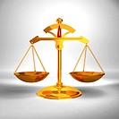 Justice concept _ Gold Balance _ 3D render image.