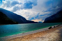 Mountain Lake Landscape _ Italy Travel