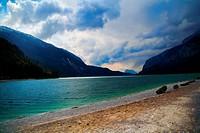 Mountain Lake Landscape _ Italy Travel