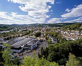 D-Attendorn, nature reserve Ebbegebirge, Sauerland, Westphalia, North Rhine-Westphalia, NRW, panorama of the city