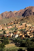 Village in the valley of Ammeln, Anti_Atlas Mountains, Morocco, Maghreb, North Africa, Africa