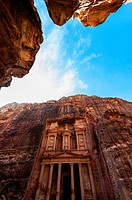 The Treasury monument Al-Khazneh, Petra archaeological site a UNESCO World Heritage site, Jordan