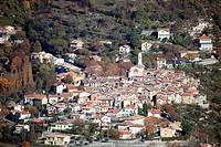 The village of Clans into the Tin&#233;e valley, Alpes-Maritimes, French riviera, Provence-Alpes-C&#244;te d'Azur, France