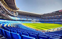 Estadio Santiago Bernabeu stadium, football venue of Real Madrid, Chamartin district, Madrid, Spain, Europe