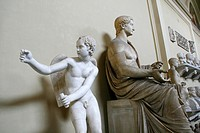 statues in the vatican museum, rome