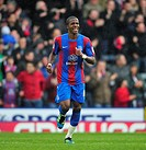 28 04 2012 London, England Wilfrjed Zaha celebrates his goal for Crystal Palace Crystal Palace v Cardiff City NPower Championship game played at Selhu...