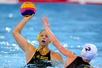 03 05 2012 London, England An Australian player with the ball during the Preliminary Round match between Great Britain and Australia on Day 1 of the V...