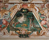 Decoration of Villa Visconti Borromeo Litta in Lainate, by Carlo Antonio Procaccini, 1587 _ 1589 about, 16th Century, fresco. Italy, Lombardy, Milan, ...