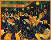 The Dance Hall in Arles, by Vincent Van Gogh, 1888, 19th Century, oil on canvas, cm 65 x 81. France, Ile de France, Paris, Muse dOrsay, RF1950_9. All....