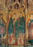 Coronation of the Virgin, by Maestro del Polittico di Corleone, 15th Century, wood. Italy, Sicily, Palermo, Palazzo Abatellis, Region Gallery of Sicil...