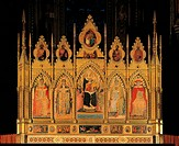 Madonna with Child and two Saints, by Gaddi Taddeo,attributed Giovanni del Biondo, 1372, 14th Century, panel. Italy, Tuscany, Florence, Santa Croce Ba...