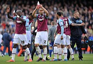 07 05 2012 London, England West Ham United v Cardiff City West Ham players celebrate their 3_0 win over Cardiff City during the NPower Championship Pl...