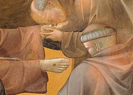The Death of St Francis, by Giotto, 1300 _ 1300, 14th Century, fresco, cm 270 x 230 . Italy, Umbria, Perugia, Assisi, Upper Basilica of San Francesco,...
