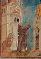 Stories of St Francis St Francis drives the Devils out of Arezzo, by Giotto, 1297 _ 1299 about, 13th Century, fresco, cm 273 x 230. Italy, Umbria, Per...