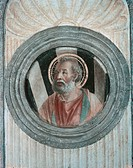 Roundel with Saint probably Apostle, by Vincenzo Foppa, 1468 _ 1468, 15th Century, fresco. Italy, Lombardy, Milan, SantEustorgio Basilica, Portinari C...