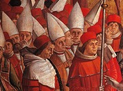 Legend of St Ursula. The Pilgrims Meet the Pope under the Walls of Rome, by Vittore Carpaccio, 1490 _ 1491 about, 15th Century, oil on canvas, cm 279 ...
