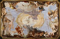 The Power of Eloquence, by Giambattista Tiepolo, 1724 _ 1725, 18th Century, fresco. Italy, Veneto, Venice, Palazzo Sandi. All. Minerva and Mercury at ...