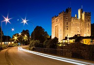 Bunratty castle at night, bunratty, county clare, ireland
