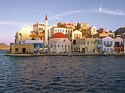 Main village on the Greek island of Meis or Kastelorizo, Greece, Europe