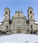 Benedictine Einsiedeln Abbey, monastery, place of pilgrimage, Einsiedeln, Canton of Schwyz, Switzerland, Europe