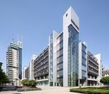 Buerozentrum Skylight office building, Frankfurt am Main, Hesse, Germany, Europe, PublicGround