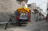Rickshaw parked in a Hutong, Beijing, China