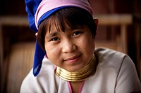 Padaung young lady  Inle Lake, Myanmar