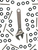 Tools isolated against a white background