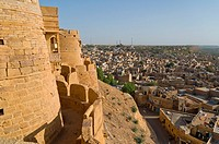 View of Jaisalmer from the Jaisalmer Fort, Jaisalmer, India