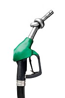 This picture shows an unleaded petrol pump nozzle
