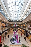 Shops in the Stadtgalerie modern mall, Heilbronn, Baden-Wuerttemberg, Germany, Europe